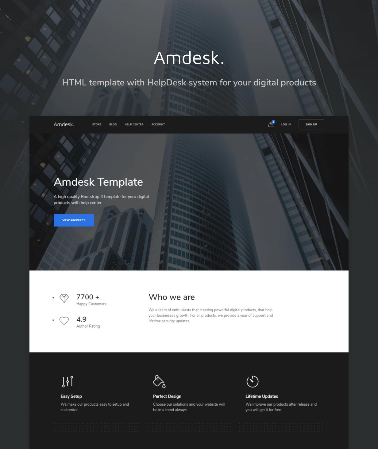 Amdesk HTML Template