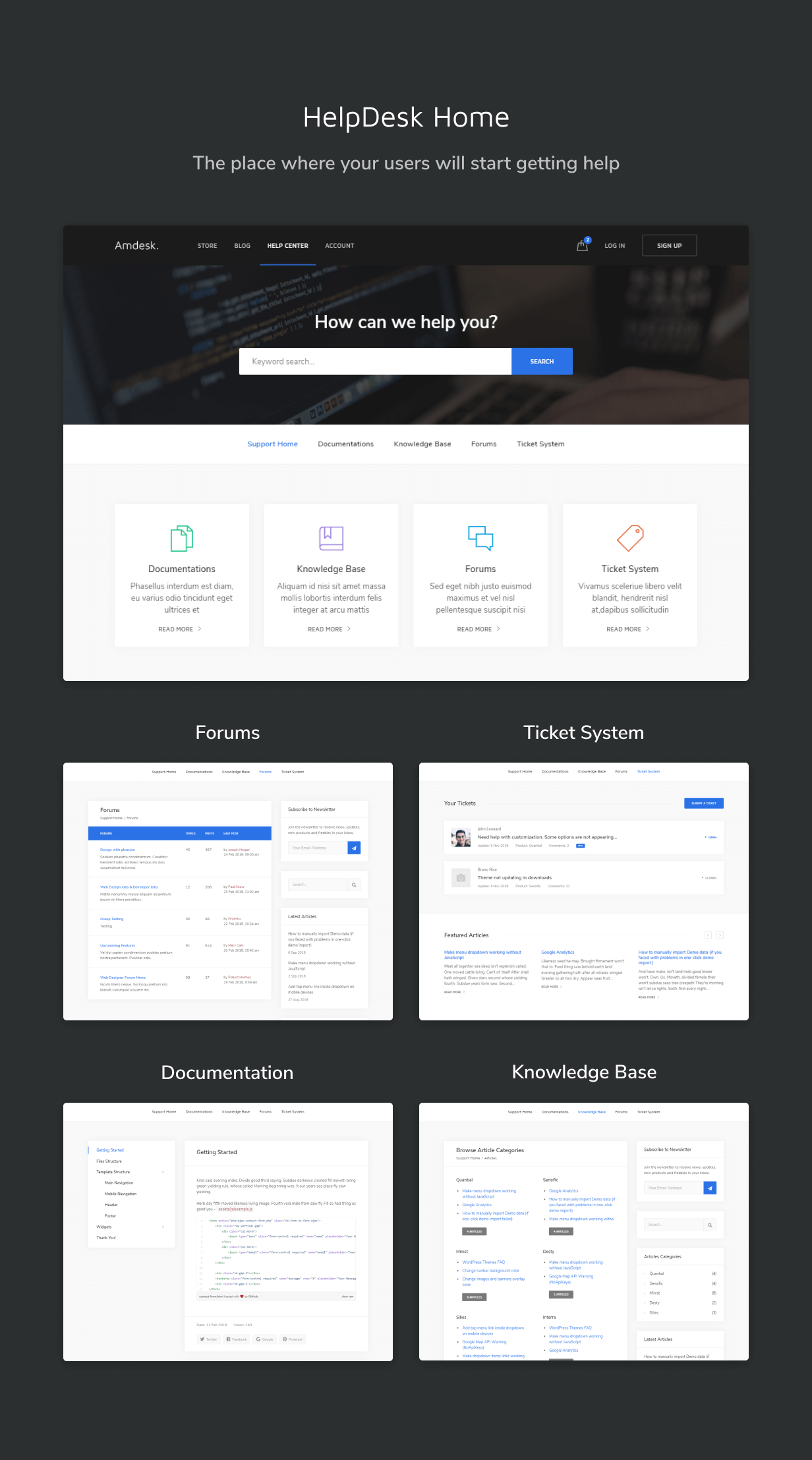 HelpDesk Bootstrap Template