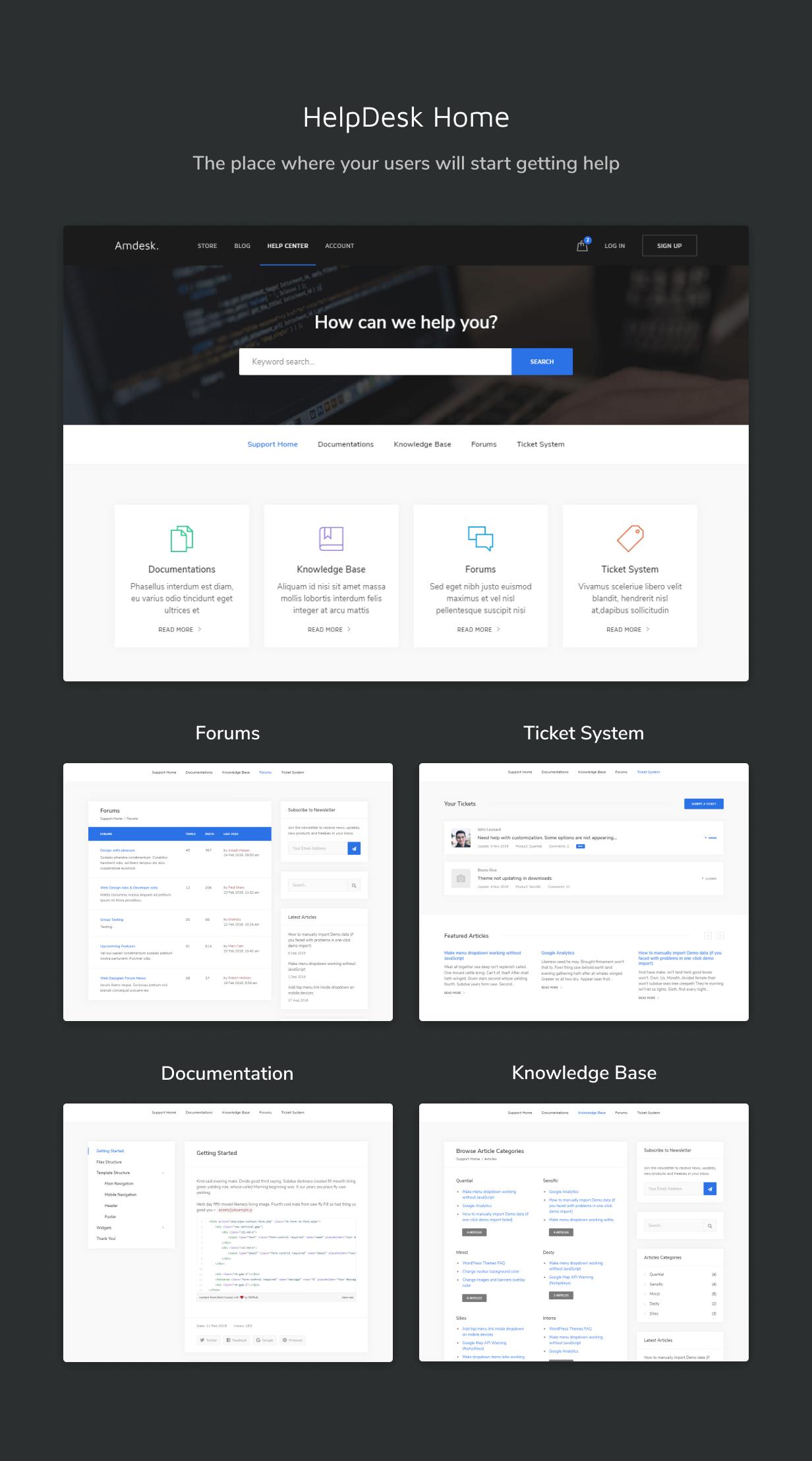HelpDesk Bootstrap Template