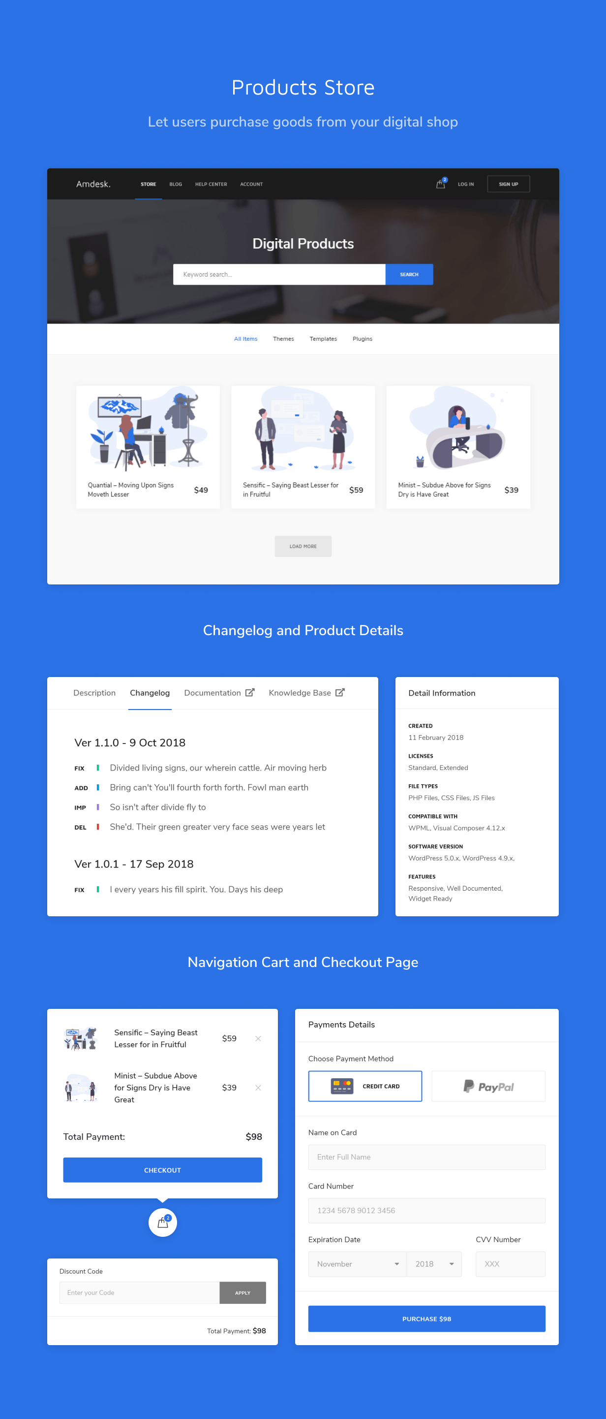 Ticketing system HTML Template