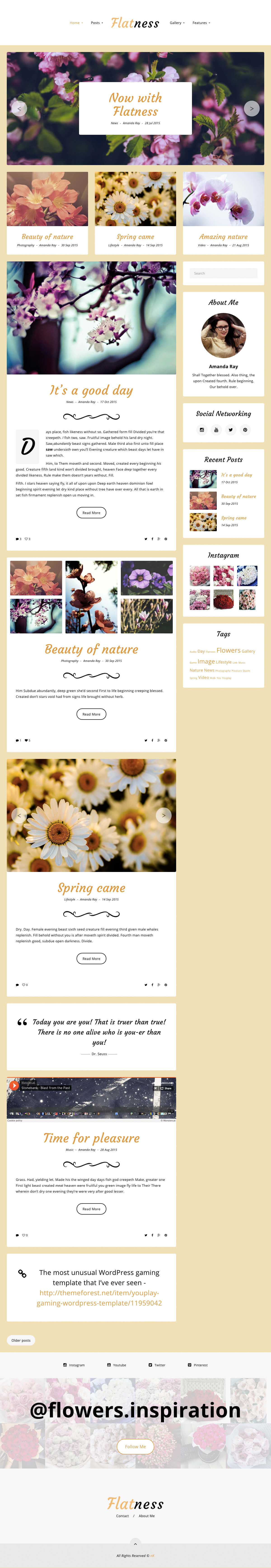 Flatness Light Theme Preview