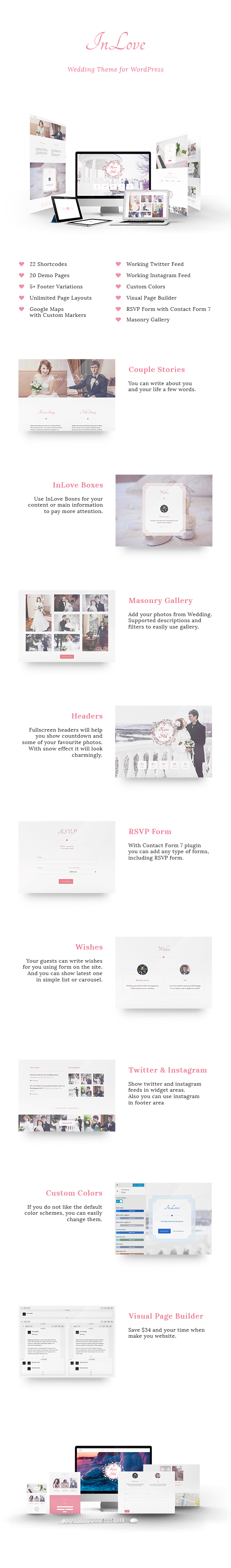 InLove Theme Features