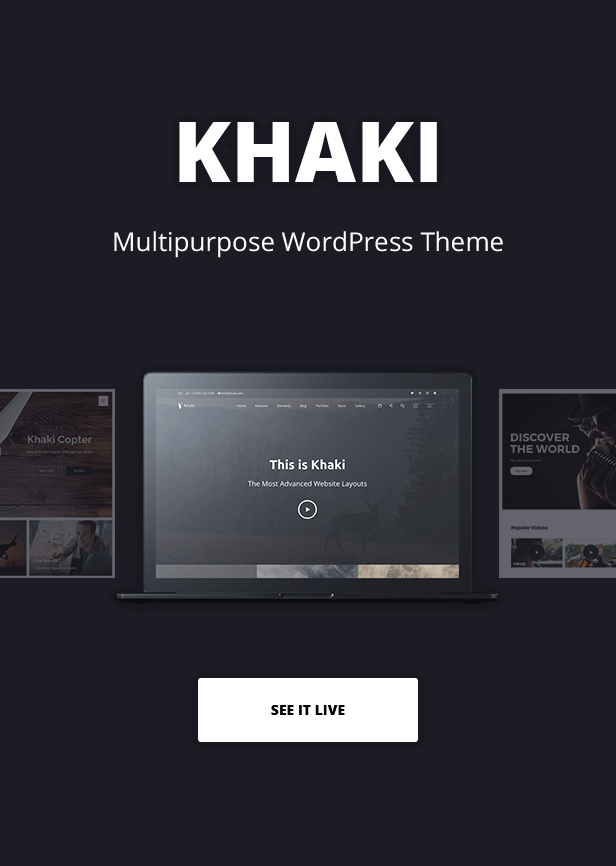 Khaki Multipurpose Theme
