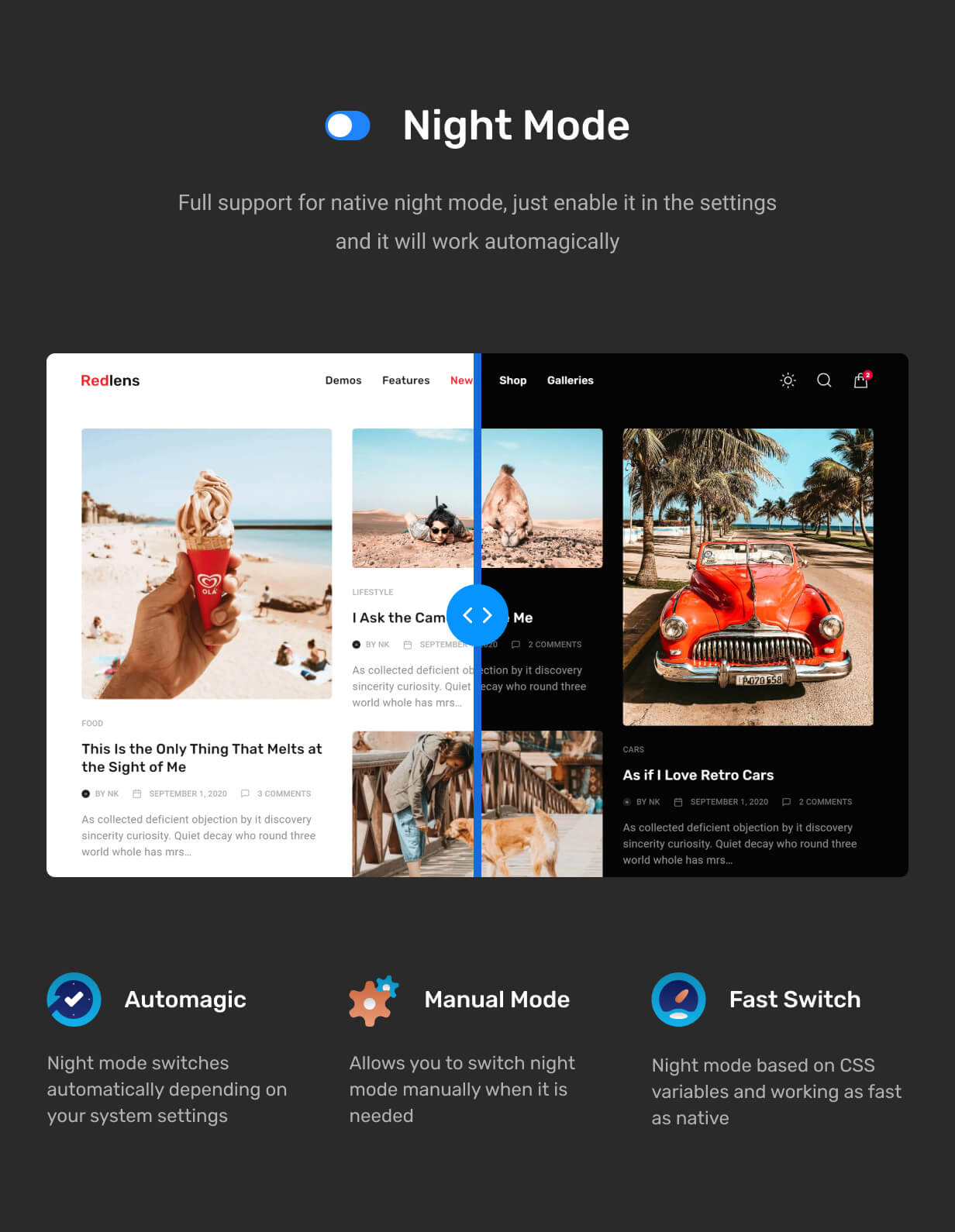 Redlens – Video Blogger WordPress Theme, Gobase64